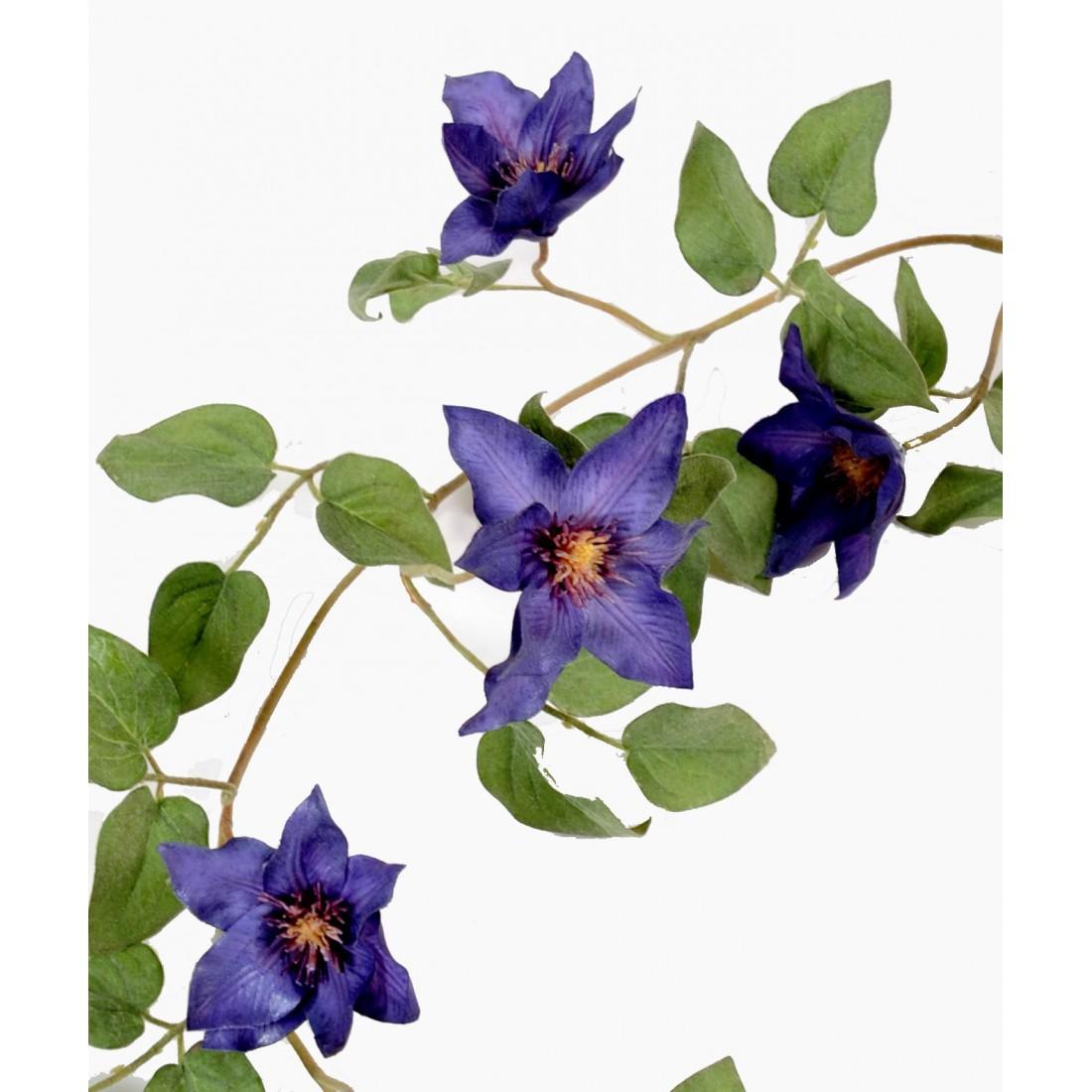 Guirlande de cl matite en fleurs 130 cm plantes for Guirlande fleurs artificielles