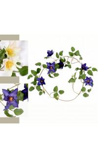 Guirlande de clématite en fleurs 130 cm
