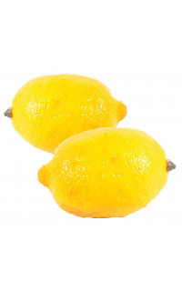 CITRON artificielle 10 cm (lot de 2)