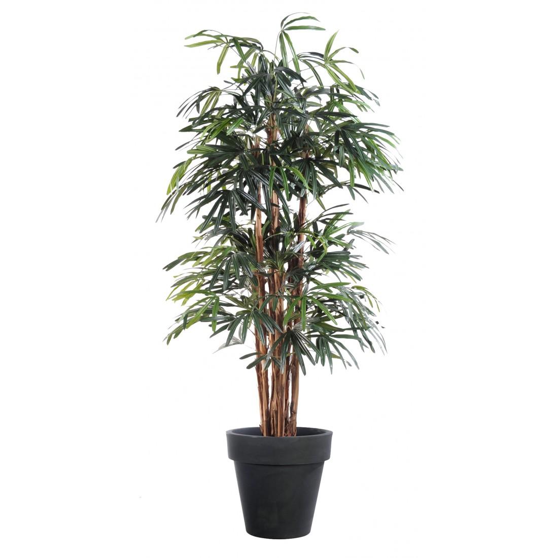 Palmier artificiel raphis lady palm 150 210cm arbres for Arbre palmier artificiel