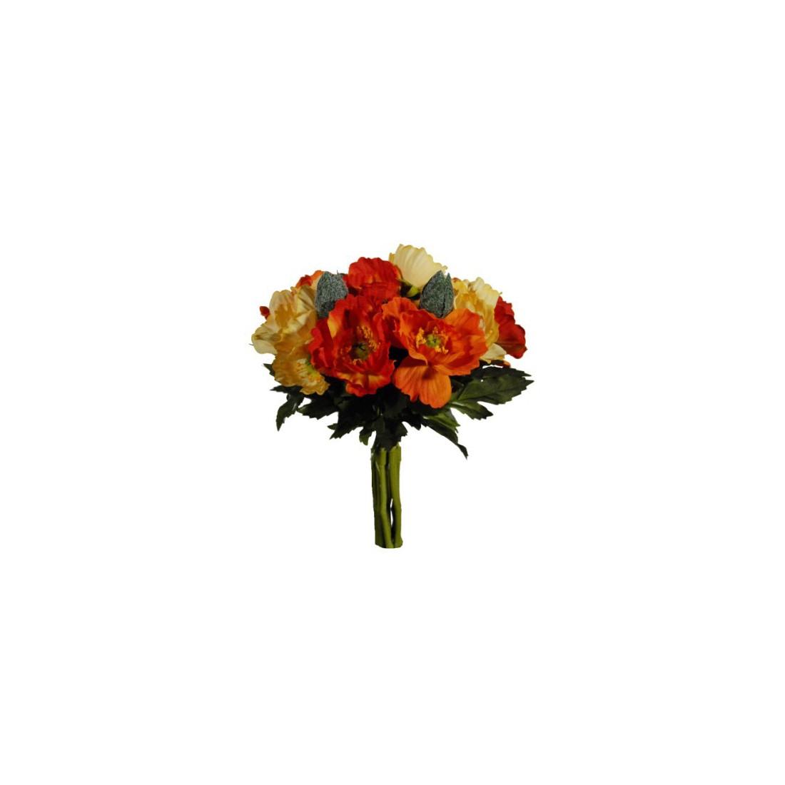bouquet artificiel de pavot mini 24 cm fleurs intemporelles artificielles reflets nature lyon. Black Bedroom Furniture Sets. Home Design Ideas