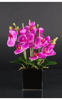 PHALAENOPSIS artificielle 32  cm en pot