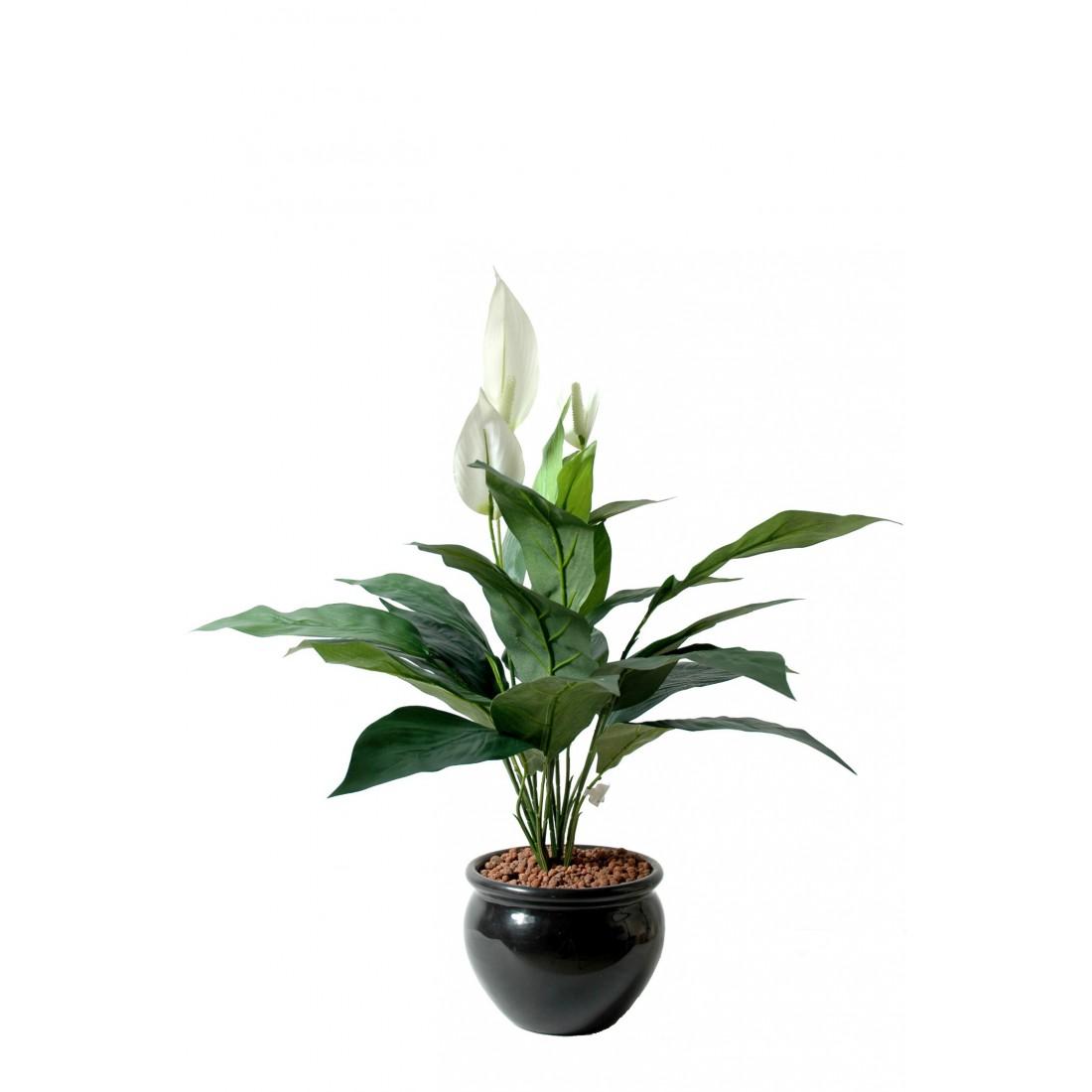 Spathiphilum artificiel 3 fleurs 60 cm plantes for Plantes artificielles lyon
