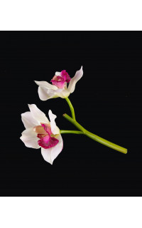 Orchidée Cymbidium artificielle 21 cm