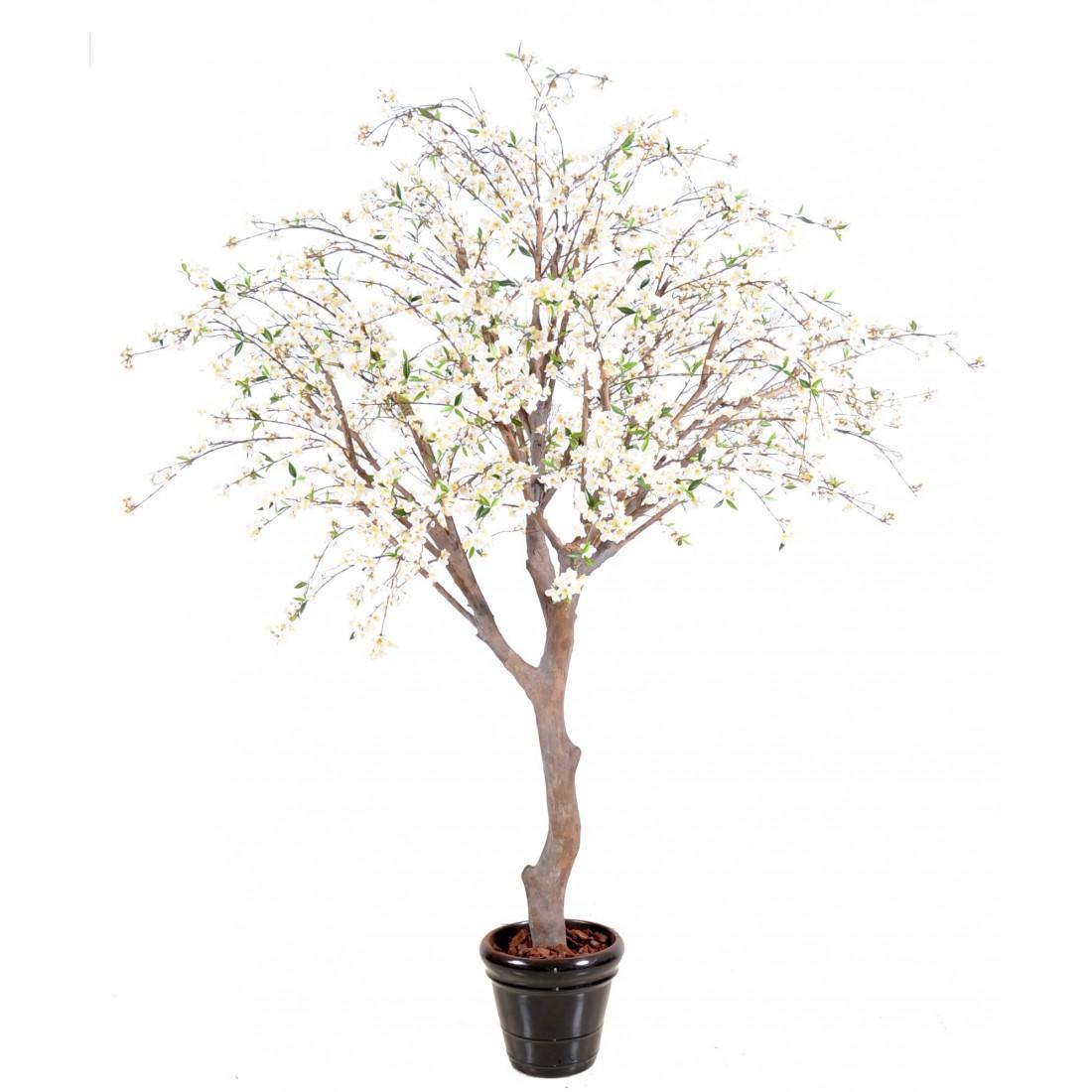 Cerisier en fleurs artificiel de 280 cm arbres fleuris for Plantes vertes artificielles haut de gamme