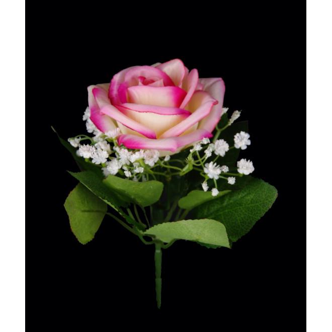 bouquet de ROSES artificielles 21 cm