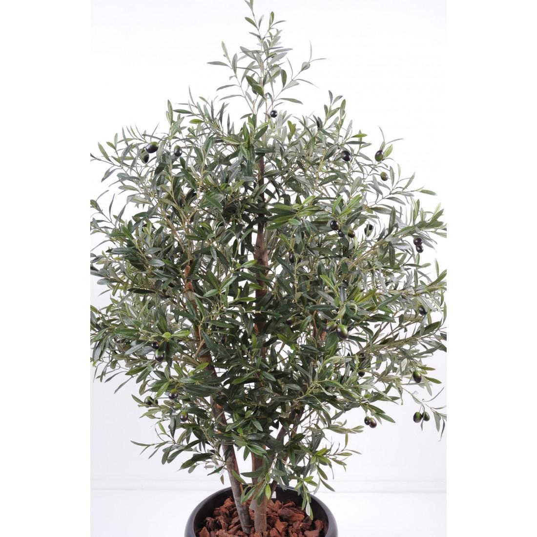 Olivier artificiel new buisson 140 et 170 cm arbres for Arbre factice