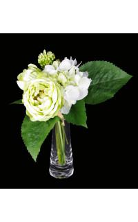 bouquet de RENONCULES et HORTENSIA artificielles 28 cm