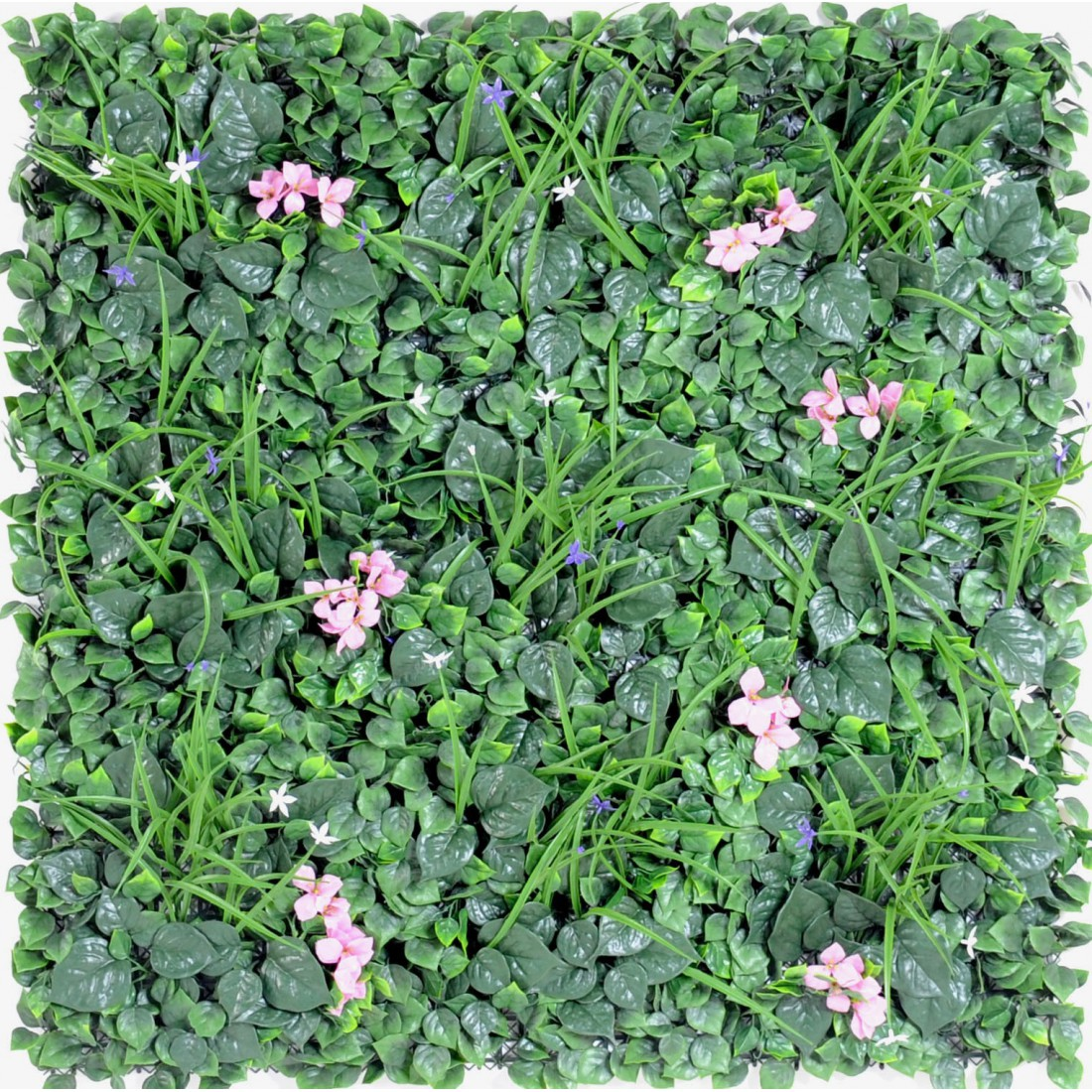 Mur vegetal b 100 x 100 cm plaques synth tique reflets for Mur vegetal exterieur synthetique
