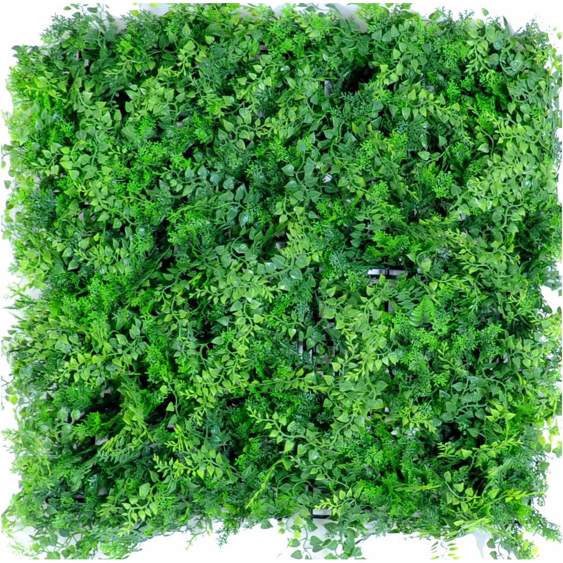 Mur fond foug re 50 x 50 cm plaques synth tique reflets for Mur vegetal exterieur synthetique