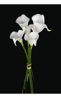 bouquet ARUM artificiel mini ou CALLA artificiel 38 cm