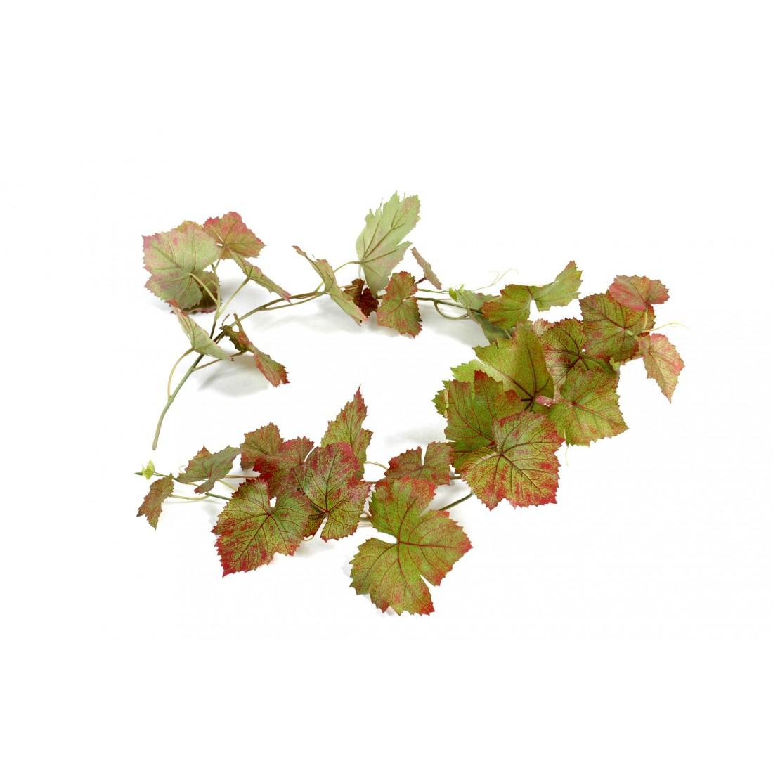 Guirlande feuille de vigne artificielle automne 118 cm for Plantes artificielles lyon