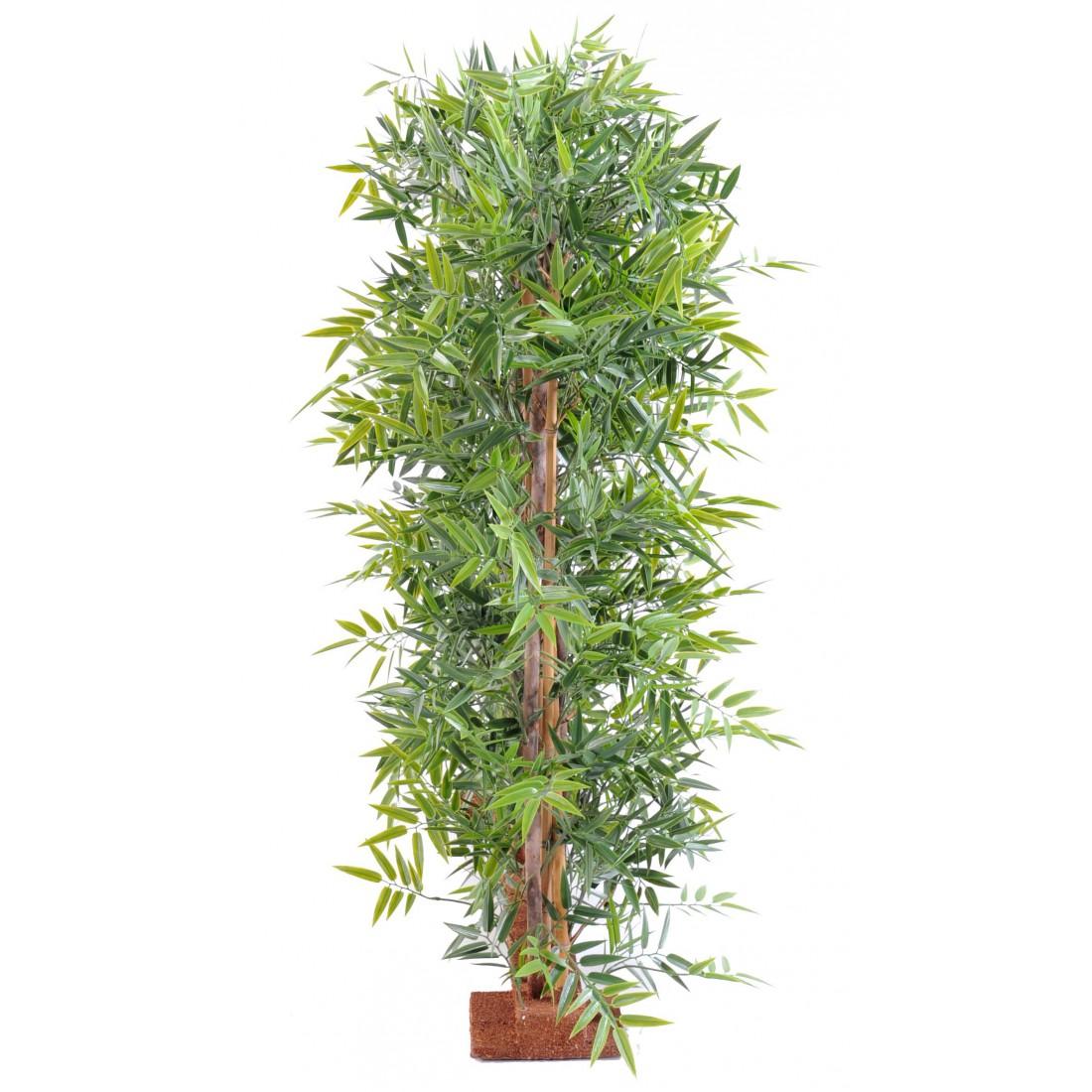 Haie artificielle bambou dense japenese plast 110 et 155 cm haies et murs vegetaux artificiels - Haie de bambou en pot ...