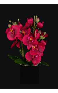 PHALAENOPSIS artificielle rouge 32  cm en pot