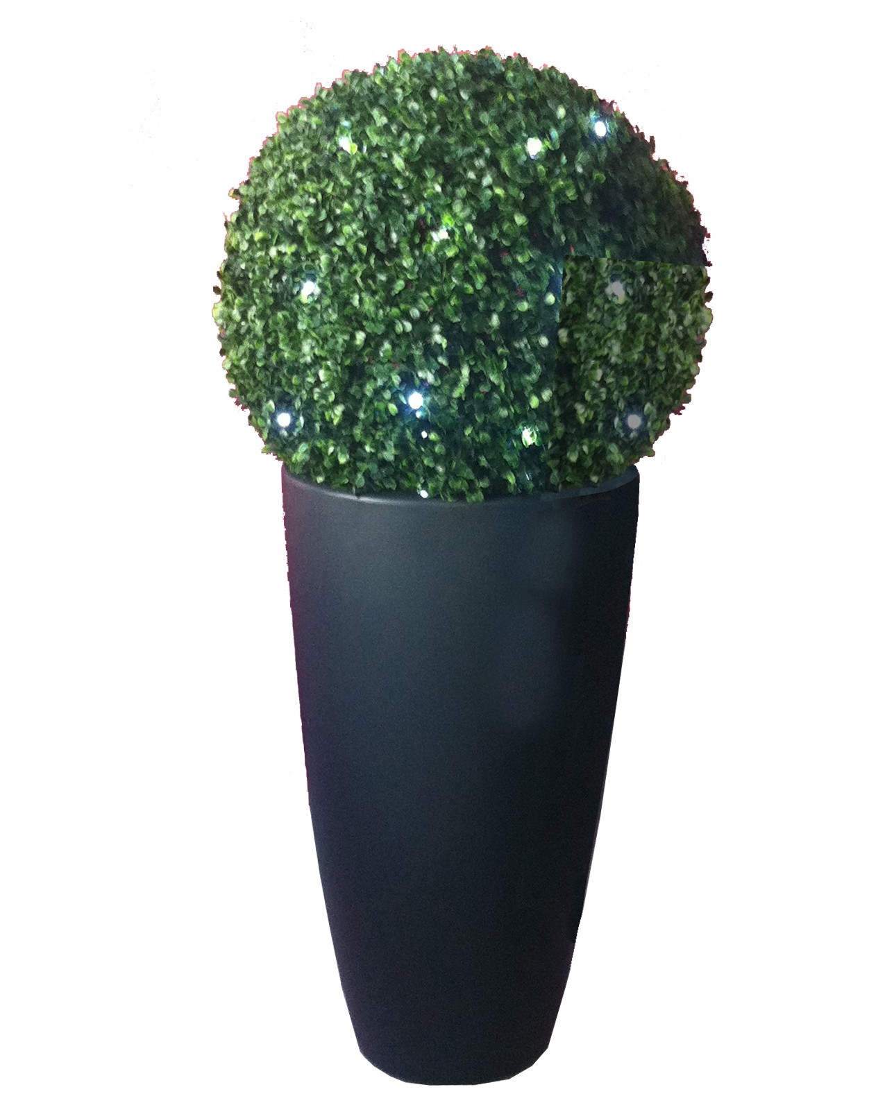 Pot buis artificiel fashion designs for Plante lumineuse