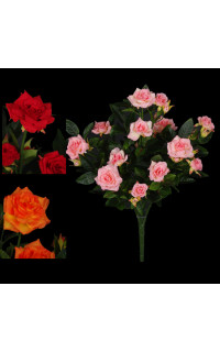 ROSIER artificiel piquet  rose 37 cm