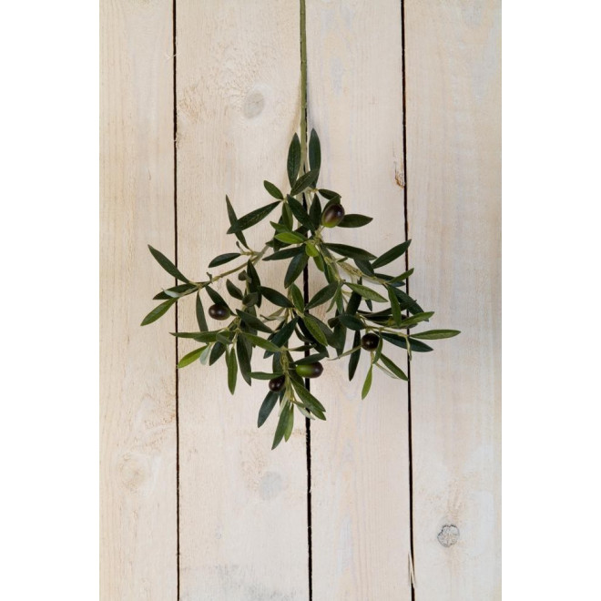 branche OLIVIER artificiel NATUREL 50 cm