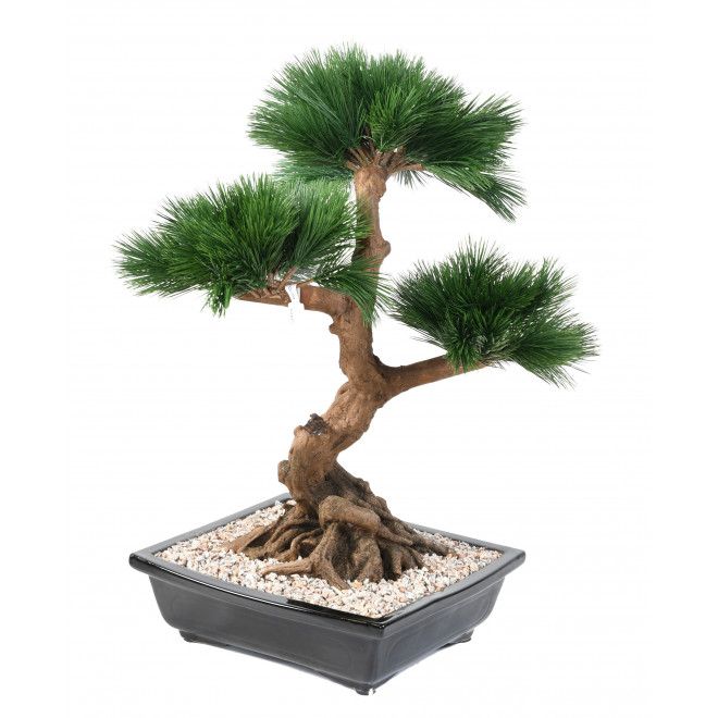 BONSAI artificiel PIN EN COUPE 68 cm