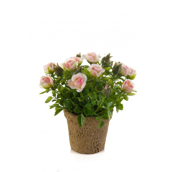 ROSIER artificiel en pot 14 cm