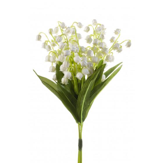 bouquet de 3 brins de MUGUET artificiel 24 cm