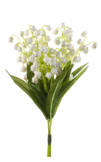 bouquet de 3 brins de MUGUET artificiel 24 cm