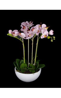 composition Phalaenopsis ORCHIDEE artificielle rose EN POT 63 cm