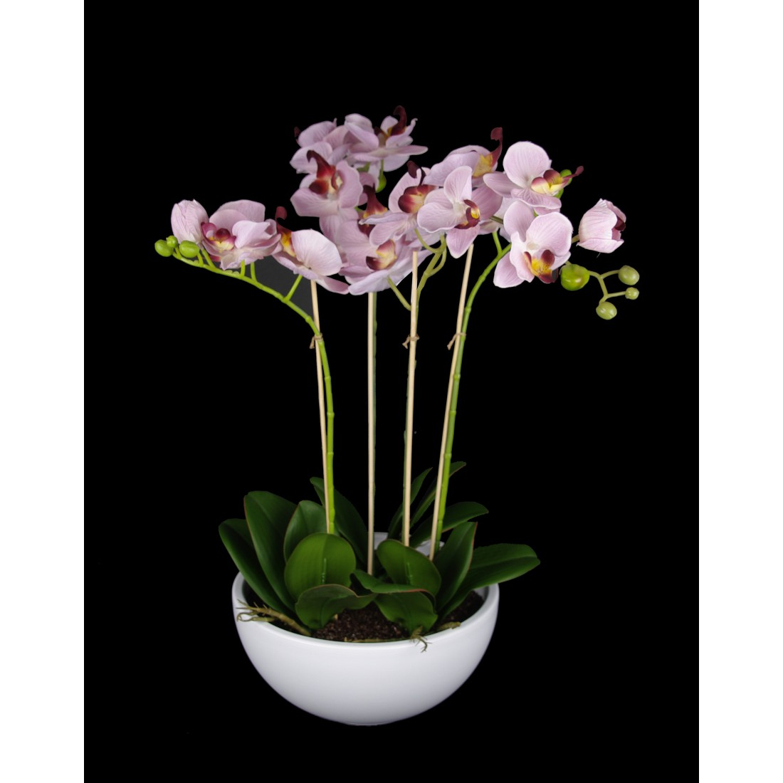 composition phalaenopsis orchidee artificielle en pot 63 cm blanc orchid es en pot ou en motte. Black Bedroom Furniture Sets. Home Design Ideas