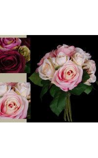 bouquet de ROSES artificielles 22 cm