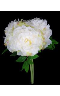 bouquet PIVOINE artificiel 38 cm