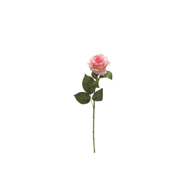 Rose artificielle ouverte 53 cm roses reflets nature lyon for Rose artificielle