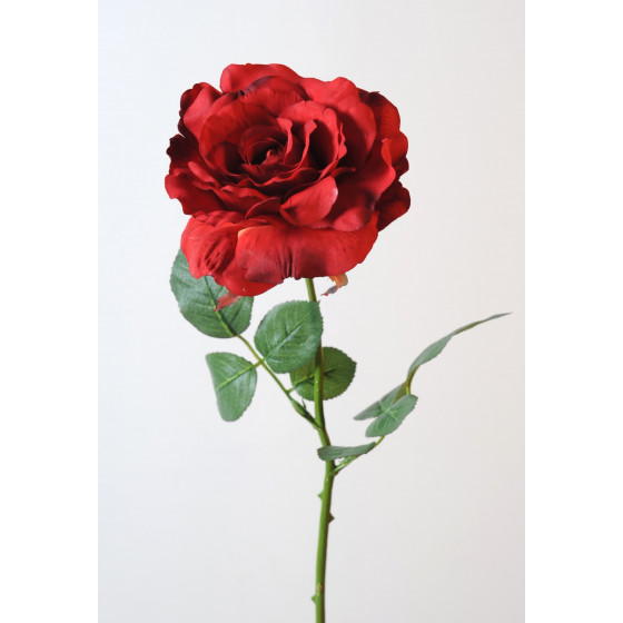 ROSE ouverte artificielle 70 cm
