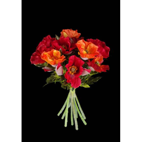bouquet de PAVOT artificiels 33 cm