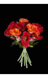 bouquet de PAVOT artificiels 33 cm