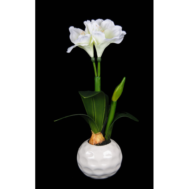 AMARYLLIS artificiel en pot 57 cm