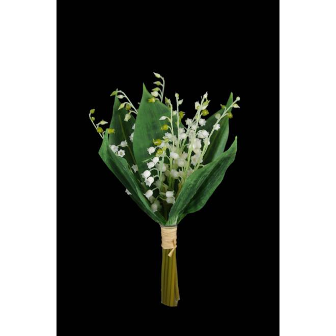 bouquet de 10 brins de MUGUET artificiel 30 cm