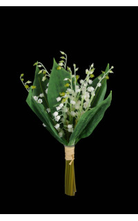 bouquet de 10 brins de MUGUET artificiel 30 cm
