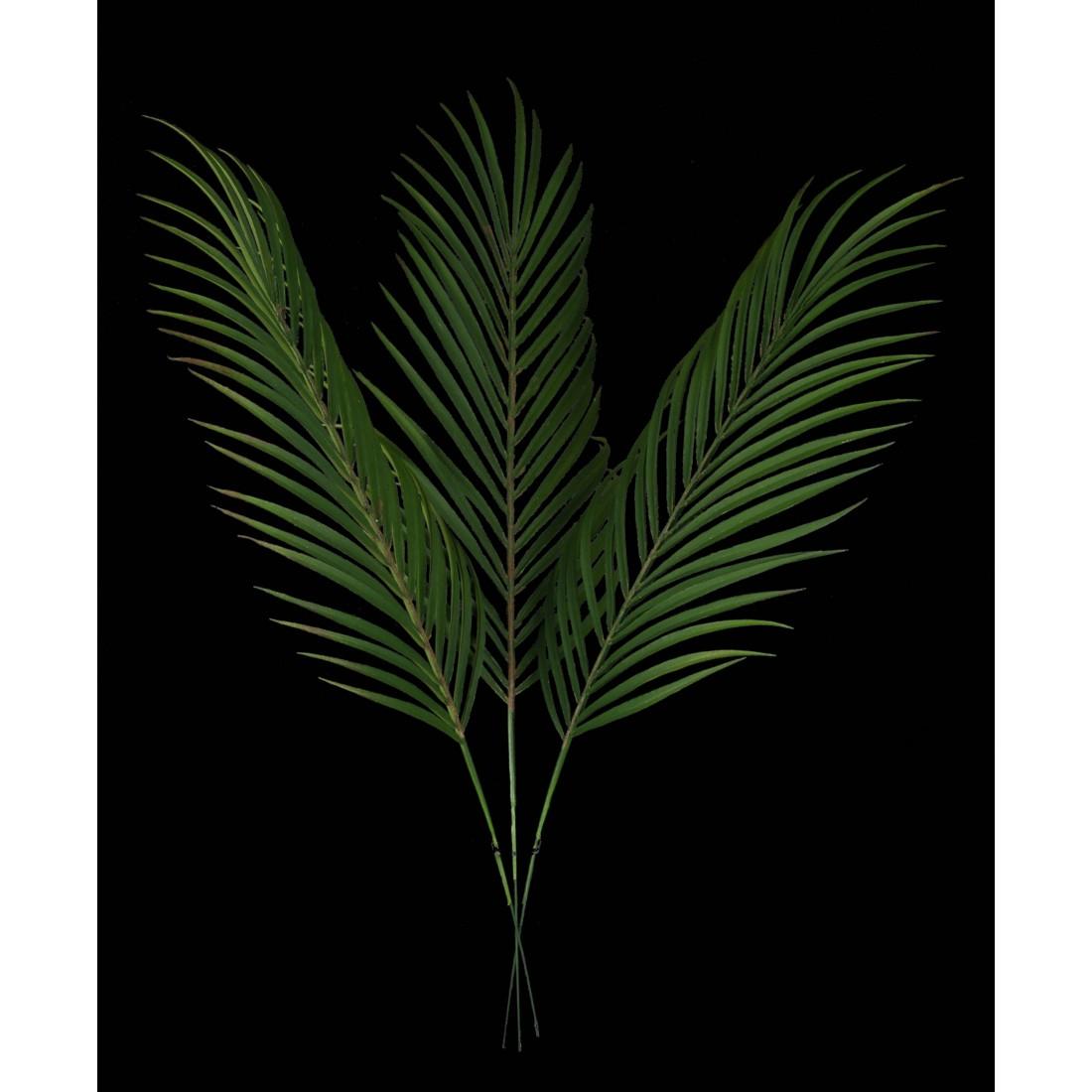 feuille de palmier artificiel areca x 3 plast 56 cm feuillages artificiels reflets nature lyon. Black Bedroom Furniture Sets. Home Design Ideas