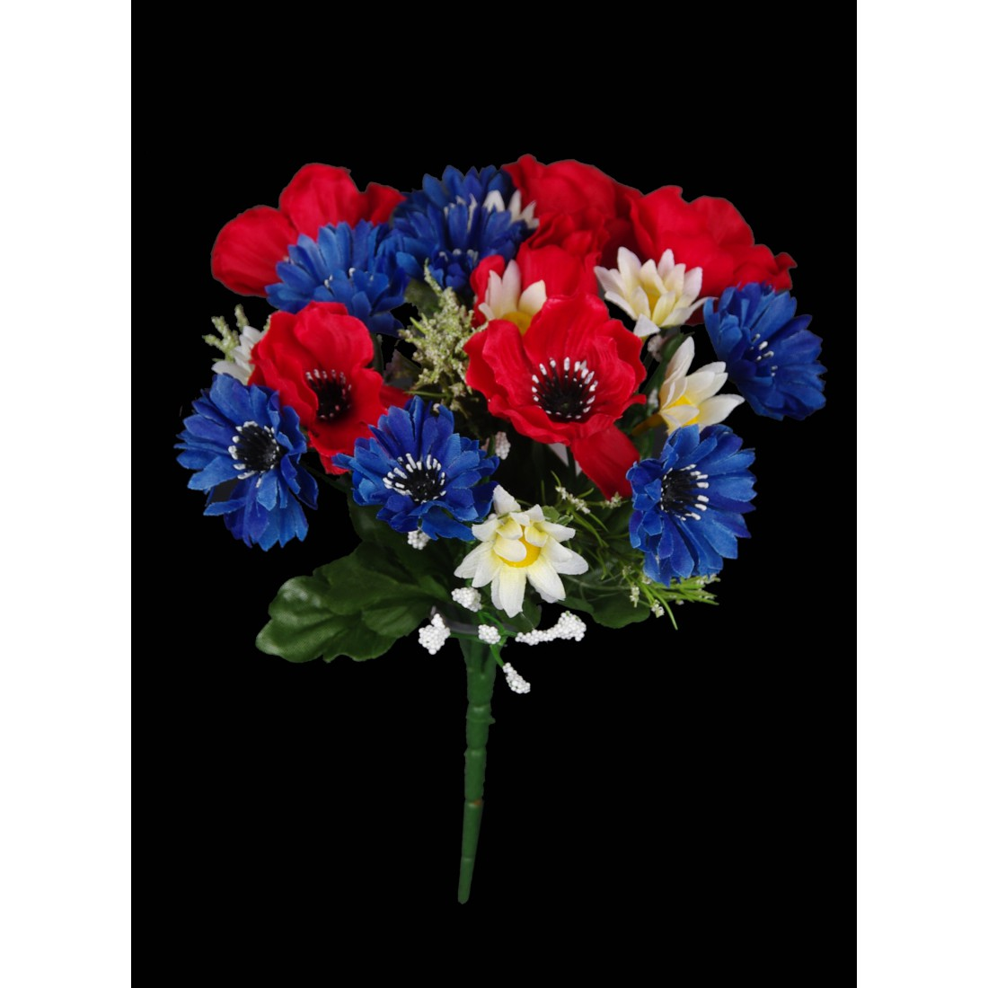bouquet artificiel bleu blanc rouge 22 cm bouquets reflets nature lyon. Black Bedroom Furniture Sets. Home Design Ideas