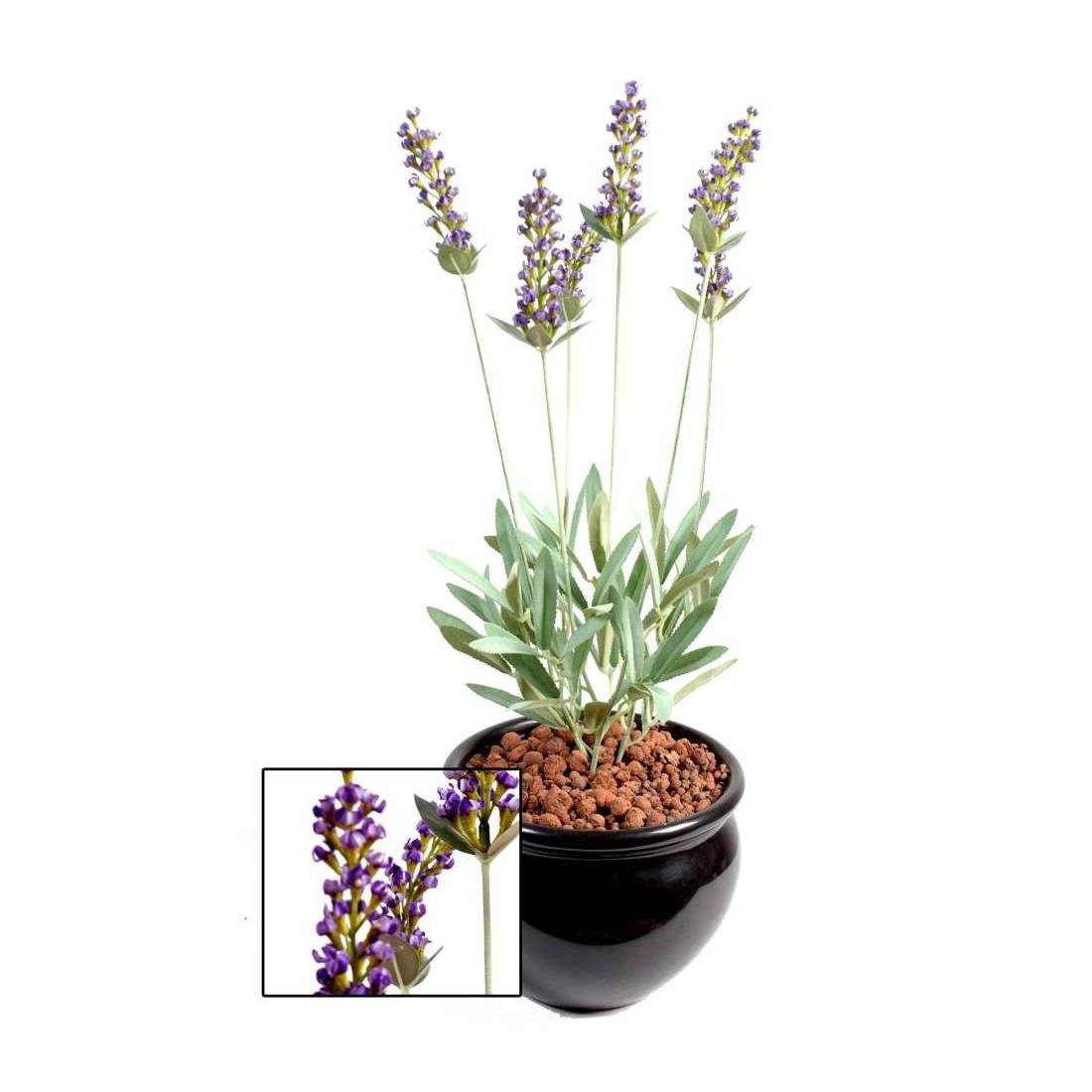 Lavande artificielle plante 52 cm piquets fleuris reflets for Plantes artificielles lyon