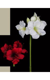 AMARYLLIS artificiel 85 cm 3 fleurs 3 boutons