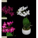 Phalaenopsis ORCHIDEE artificielle en pot 24 cm