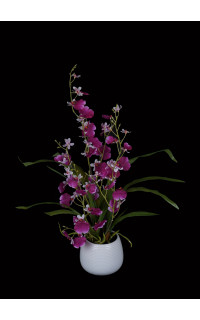 ORCHIDEE artificielle ONCIDIUM 55 cm en pot