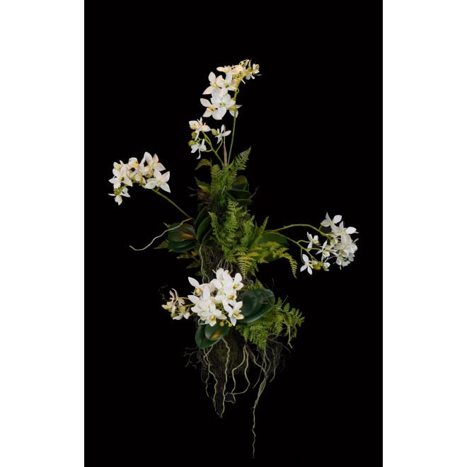 composition Phalaenopsis ORCHIDEE artificielle  60 cm à suspendre