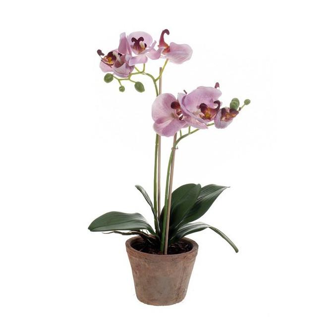 composition Phalaenopsis ORCHIDEE artificielle EN POT 51 cm