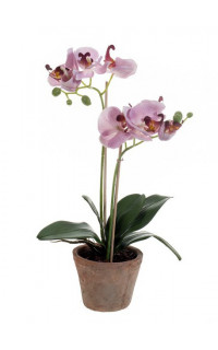 composition Phalaenopsis ORCHIDEE artificielle EN POT 51 cm