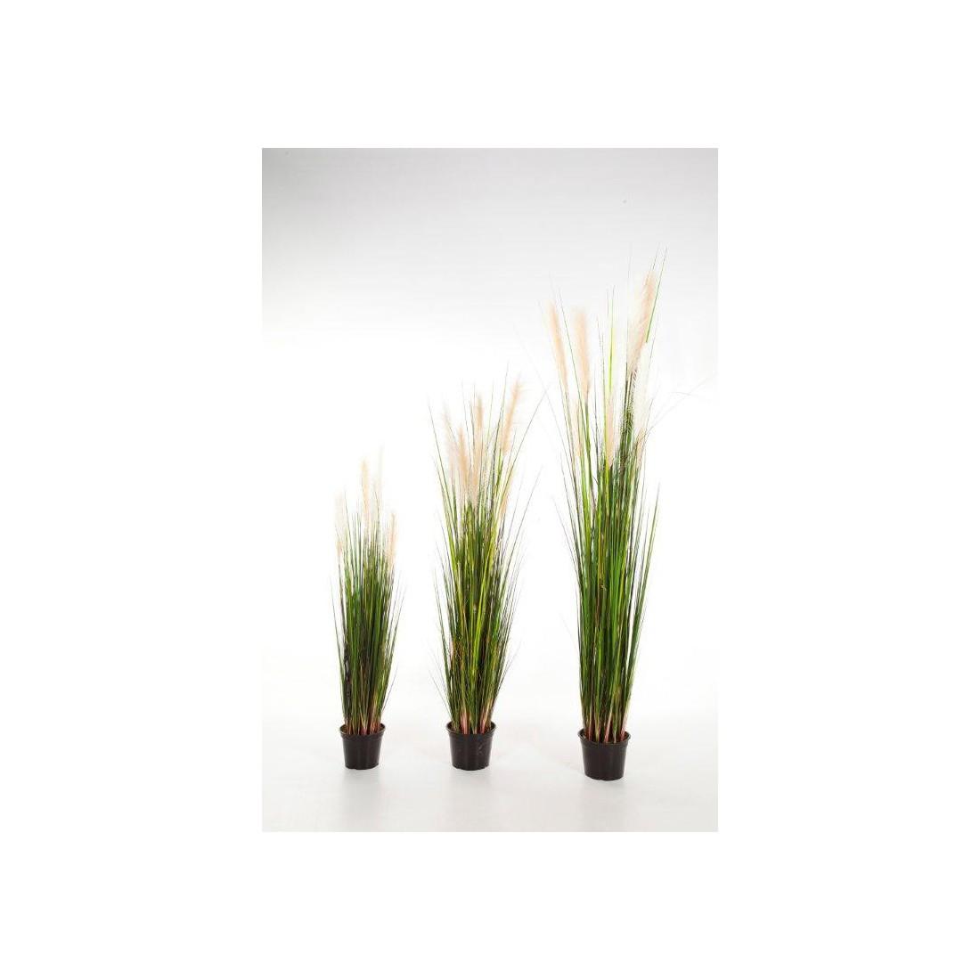 Grandes herbes artificielles plumeau blanc 120 180 cm for Plantes artificielles lyon