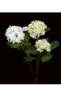 BOULE DE NEIGE ou VIBURNUM artificiel vert ou blanc 46 cm