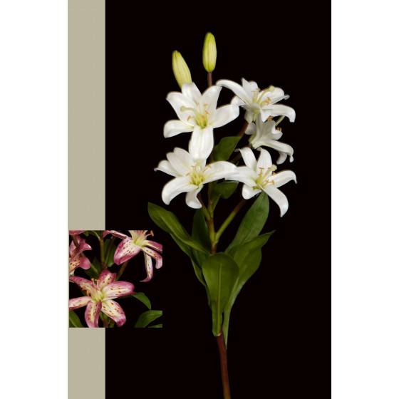 LYS mini artificiel 5 fleurs 63 cm