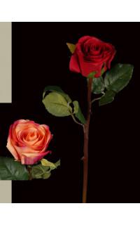 ROSE ouverte artificielle  52 cm