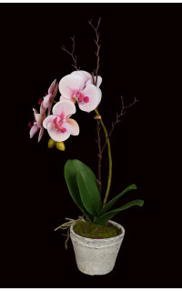 composition Phalaenopsis ORCHIDEE artificielle EN POT TC 60 cm rose